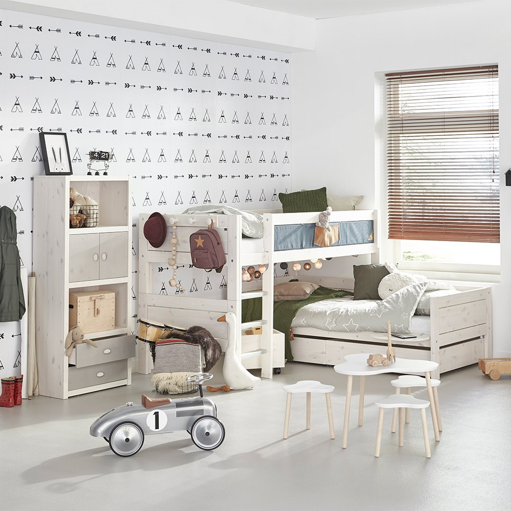 Lifetime Kids Contemporary Corner Bunk Bed Lifetime Cuckooland