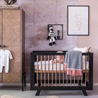 retro baby furniture. HARPER WOODEN BABY COT In Black Retro Baby Furniture