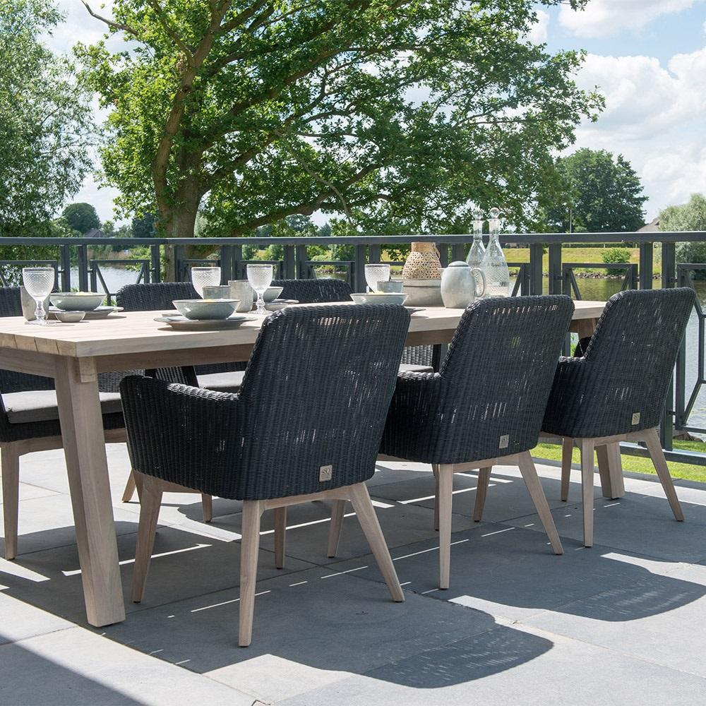 Stylish Garden Furniture Lisboa garden table rattan chairs set by 4 seasons outdoor 4 luxury stylish garden furniture set with 6 chairs workwithnaturefo