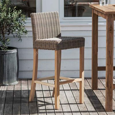 Garden Trading Lymington Bar Stool in All-Weather Rattan