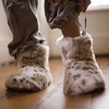 FAUX FUR SLIPPER BOOTS in Lynx