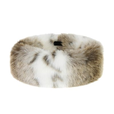 FAUX FUR HEADBAND HUFF in Luxury Lynx