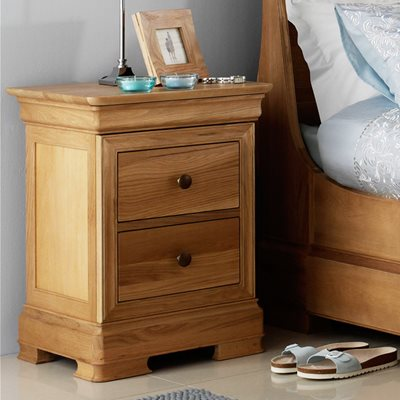 WILLIS & GAMBIER LYON SMALL BEDSIDE TABLE with 2 Drawers