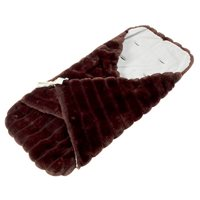 FAUX FUR PRAM PAPOOSE in Chocolate by Minimink