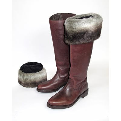 CHINCHILLA Faux Fur Boot Toppers by Helen Moore