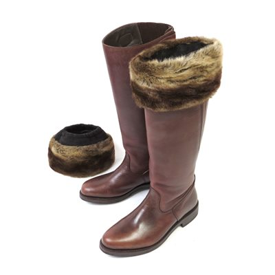 VINTAGE CARAMEL Faux Fur Boot Toppers by Moore and Moore