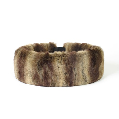 FAUX FUR HEADBAND HUFF in Vintage Caramel