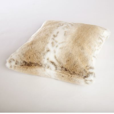 LYNX Faux Fur Cushion by Helen Moore