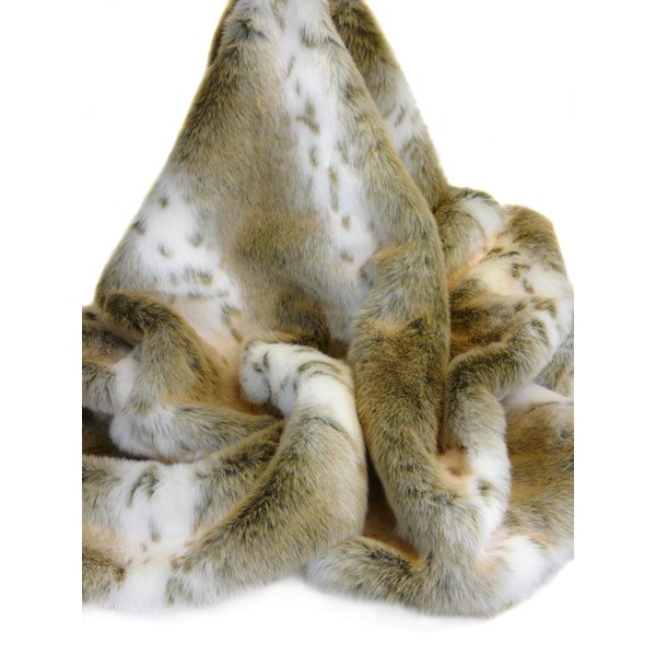 FAUX FUR Lynx Throw