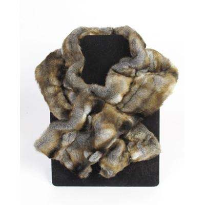 NEBRASKA Faux Fur Ruffle Scarf by Helen Moore