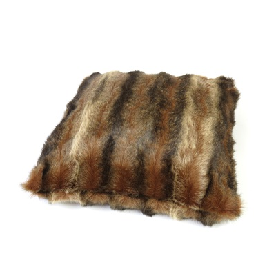 SABLE FAUX FUR CUSHION by Helen Moore