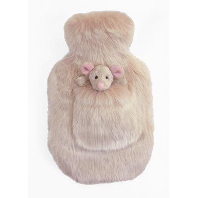 SMOOTHIE Faux Fur Hot Water Bottle by Helen Moore
