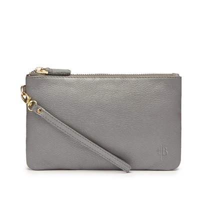 MIGHTY PURSE in Grey Shimmer Cow Leather