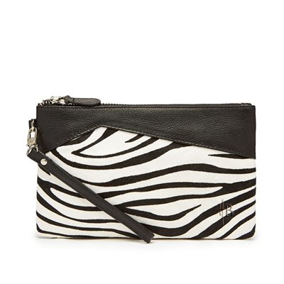 MIGHTY PURSE in Zebra Pony Hide and Leather
