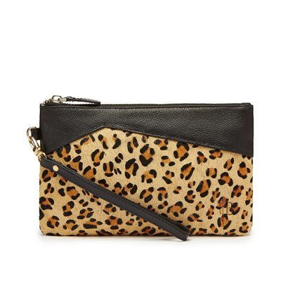 MIGHTY PURSE in Leopard Pony Hide and Leather