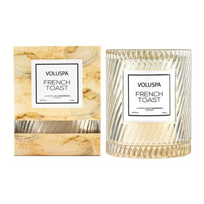 Voluspa Macaron Candle with Cloche Cover in French Toast