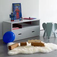 Product photograph showing Mathy By Bols Kids Sideboard In Madaket Design - Mathy Thunderstorm Grey