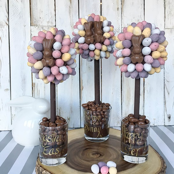 Personalised Malteser Bunny and Mini Egg Chocolate Sweet Tree