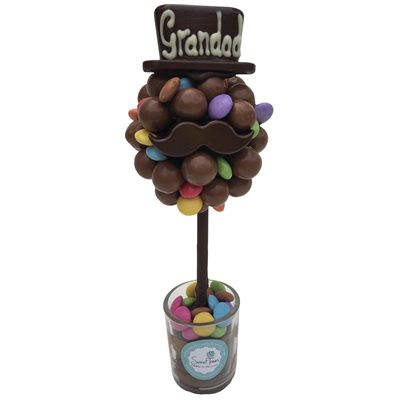 FATHERS DAY MALTESER & SMARTIES PERSONALISED SWEET TREE