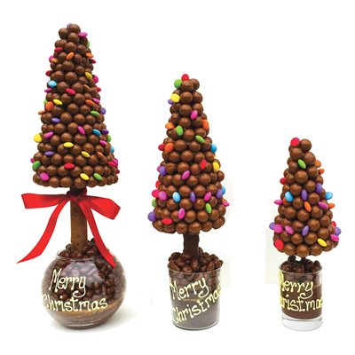 PERSONALISED MALTESERS & SMARTIES CHOCOLATE CHRISTMAS TREE