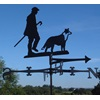 MAN AND HIS DOG WIND VANE