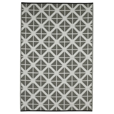 FAB HAB MANCHESTER OUTDOOR RUG in Grey & White Diamond