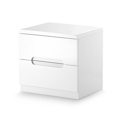 MANHATTAN 2 DRAWER BEDSIDE CABINET in White