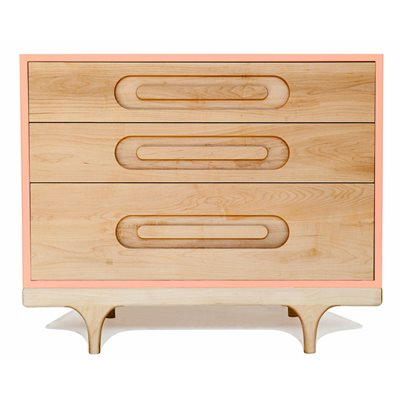 KALON STUDIOS KIDS CARAVAN DRESSER in Maple & Pink