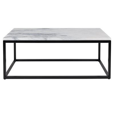 ZUIVER MARBLE TOP COFFEE TABLE with Black Steel Frame