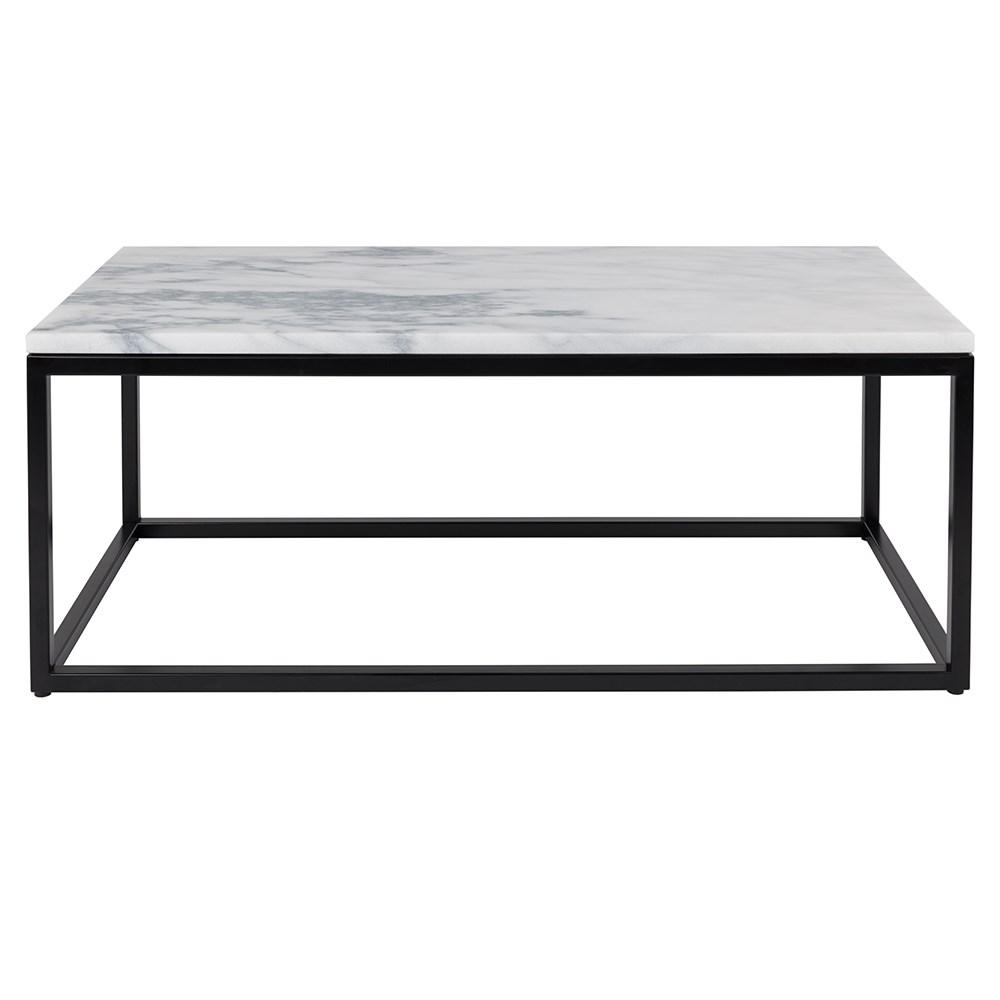 Designer Marble And Black Steel Coffee Table