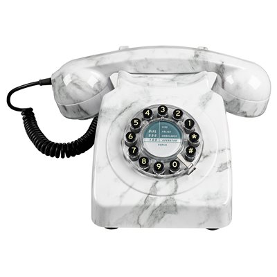 RETRO 746 TELEPHONE in Marble Effect