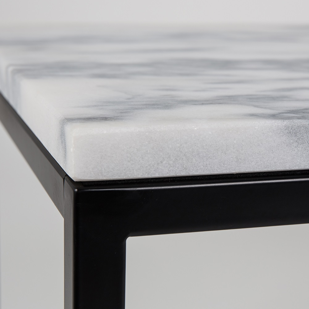 Zuiver marble power coffee table with black steel frame for Large marble top coffee table