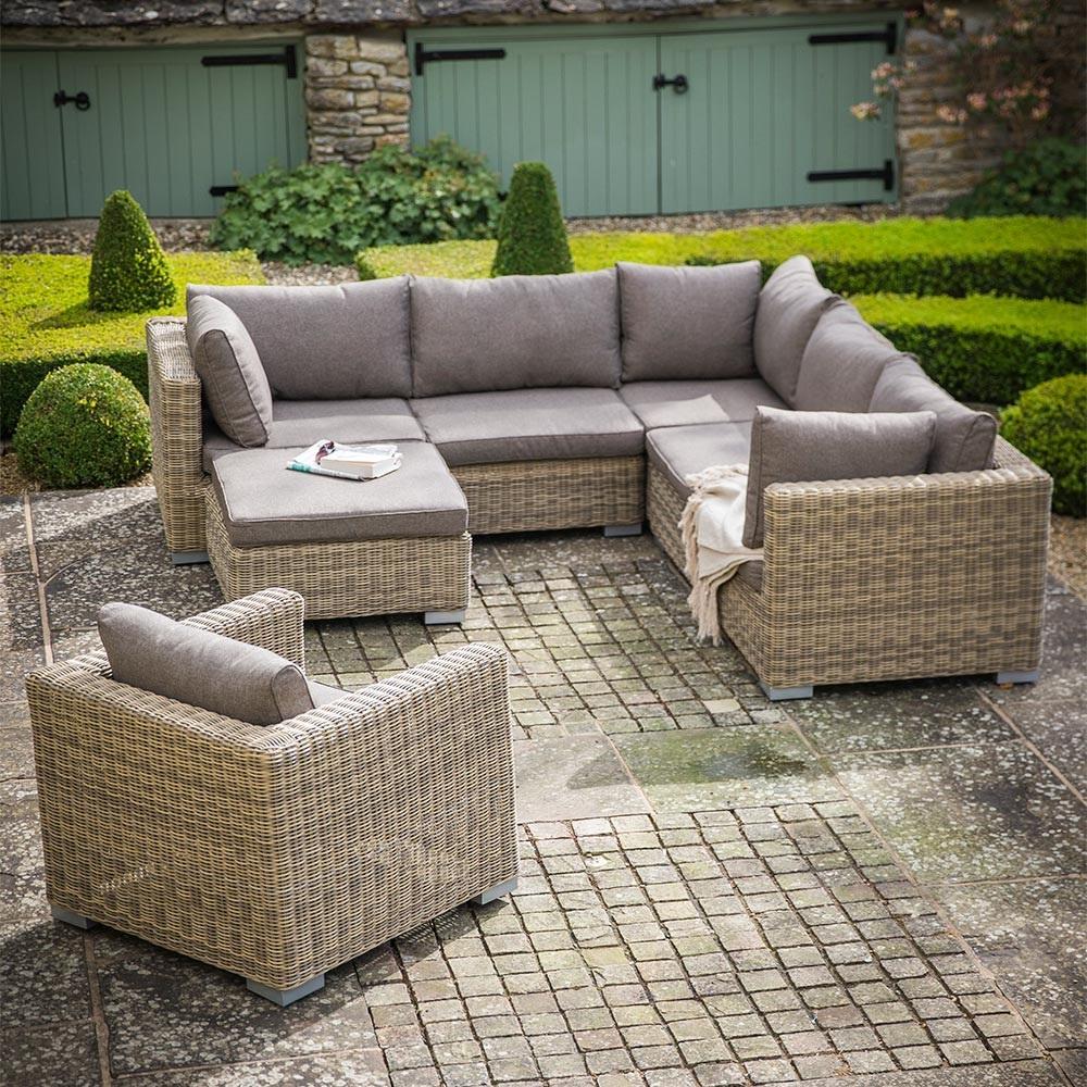 garden trading marden modular corner sofa set in pe rattan. Black Bedroom Furniture Sets. Home Design Ideas