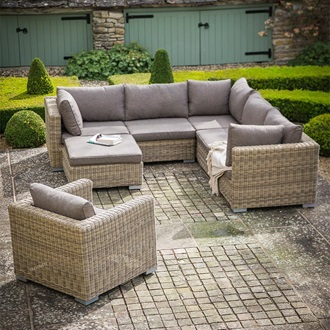 MARDEN MODULAR CORNER SOFA SET in PE Rattan. Marden Modular Corner Sofa Set In Pe Rattan   Garden Furniture