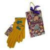 Wool Gloves in Mustard & Teal