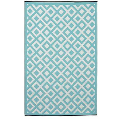 MARINA OUTDOOR RUG in Eggshell Blue & White