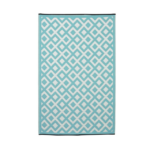 Marina Outdoor Rug in Blue & White