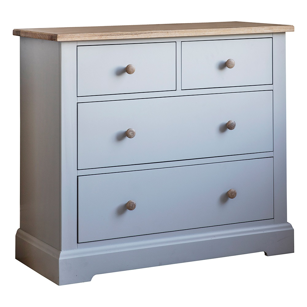 Marlow chest of drawers in grey by frank hudson