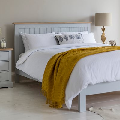 MARLOW BED FRAME in Grey by Frank Hudson
