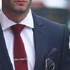 Tyler & Tyler red wool tie
