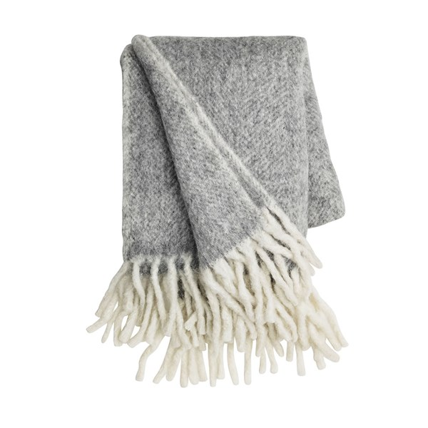 Mathea Melange Throw in Grey
