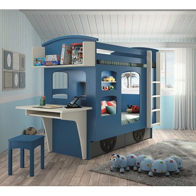 KIDS WAGON BUNK BED WITH DRAWERS