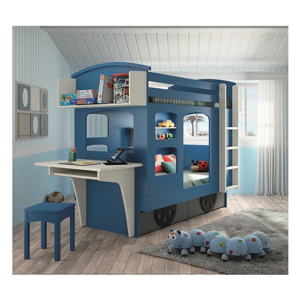 mathy by bols wagon bunk bed with drawers mathy by bols cuckooland. Black Bedroom Furniture Sets. Home Design Ideas