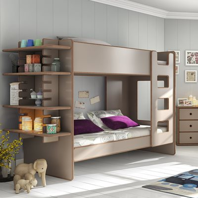 KIDS BUNK BED WITH SLIDE IN SHELF in David Design