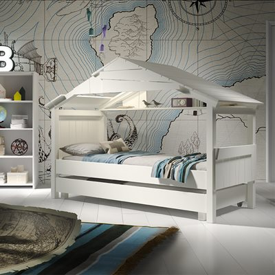MATHY BY BOLS STAR TREEHOUSE SINGLE CABIN BED with Optional Trundle Drawer