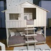 Kids Bedroom Treehouse Bunk Bed with Ladder
