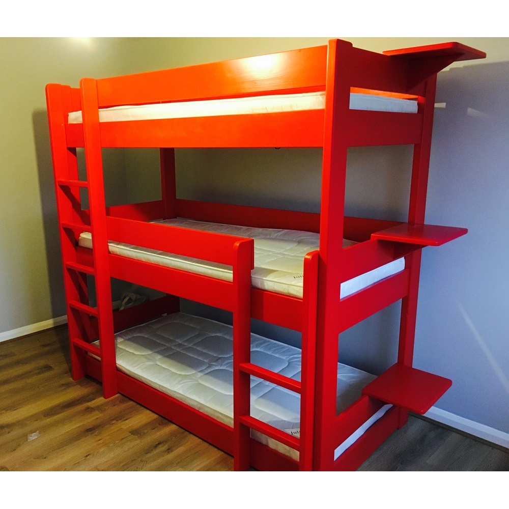 ... Red Triple Bunk Bed ... - Kids Triple Bunk Bed In Dominique Design - Kids Beds Cuckooland