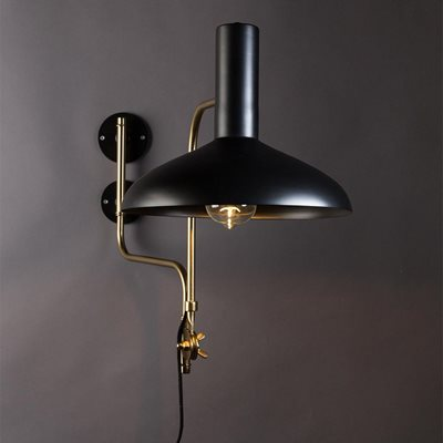 DUTCHBONE DEVI VINTAGE WALL LIGHT in Matte Black