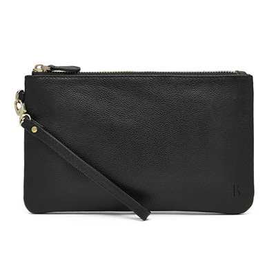 MATTE BLACK PHONE CHARGING LEATHER MIGHTY PURSE