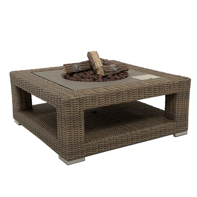 MAUI OUTDOOR GAS FIRE PIT in Light Brown